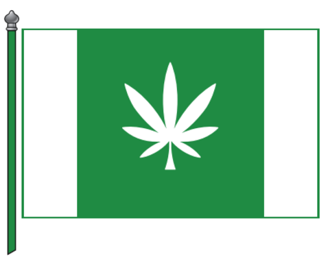 Estonian cannabis leaf flag