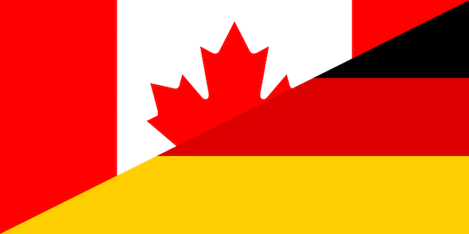 Canada Germany flags