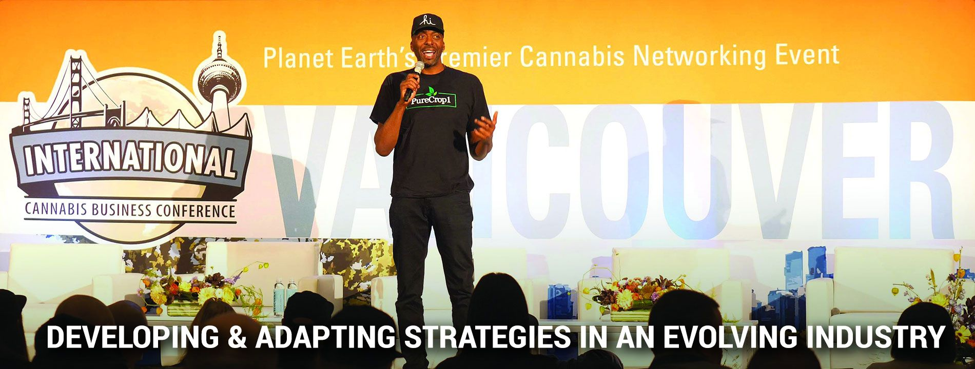 John Salley at the Virtual International Cannabis Business Conference audience