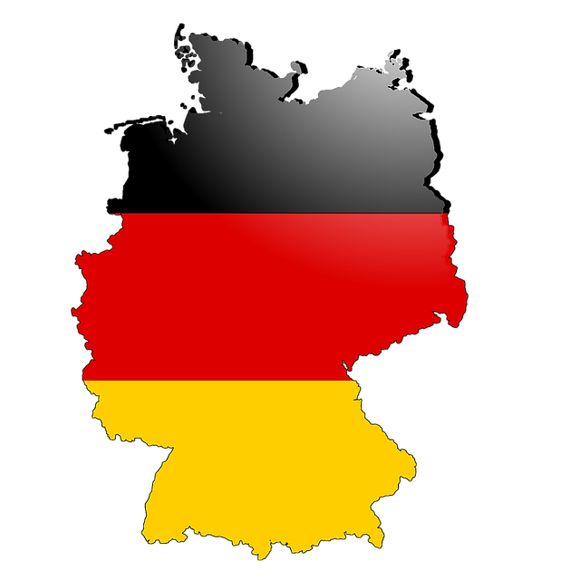 German flag country outline