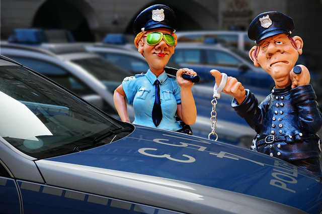 Police Caricature Figures