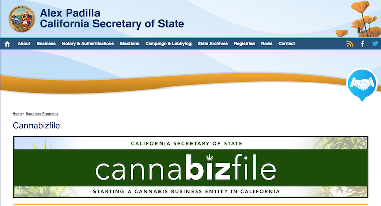 California Launches Online Portal for Cannabis Businesses