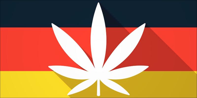 Marijuana Leaf on German Flag