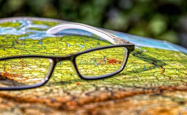 Germany map glasses