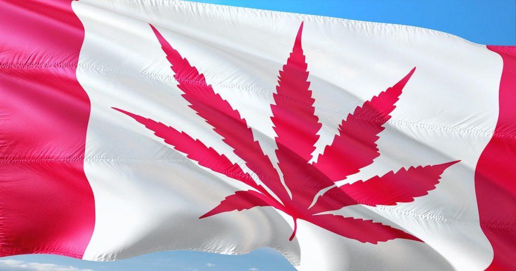 Canadian flag cannabis leaf