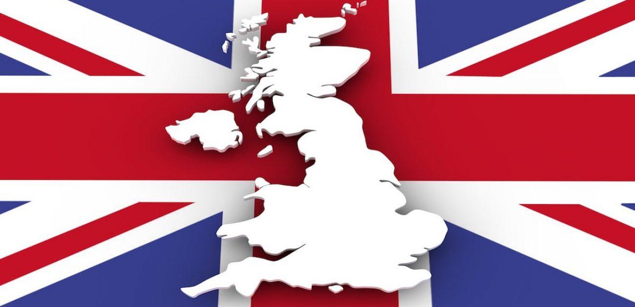 UK flag England outline