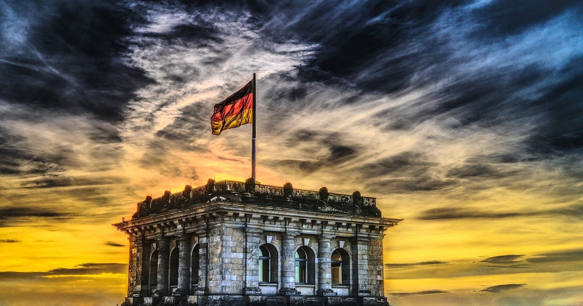 german flag flying