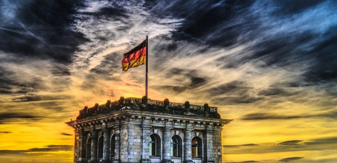 german flag flying
